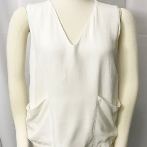 Zara Basic Collection V Neck Lined Top